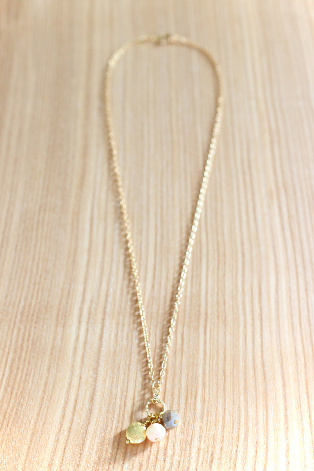 Gold & Soft Pink Necklace