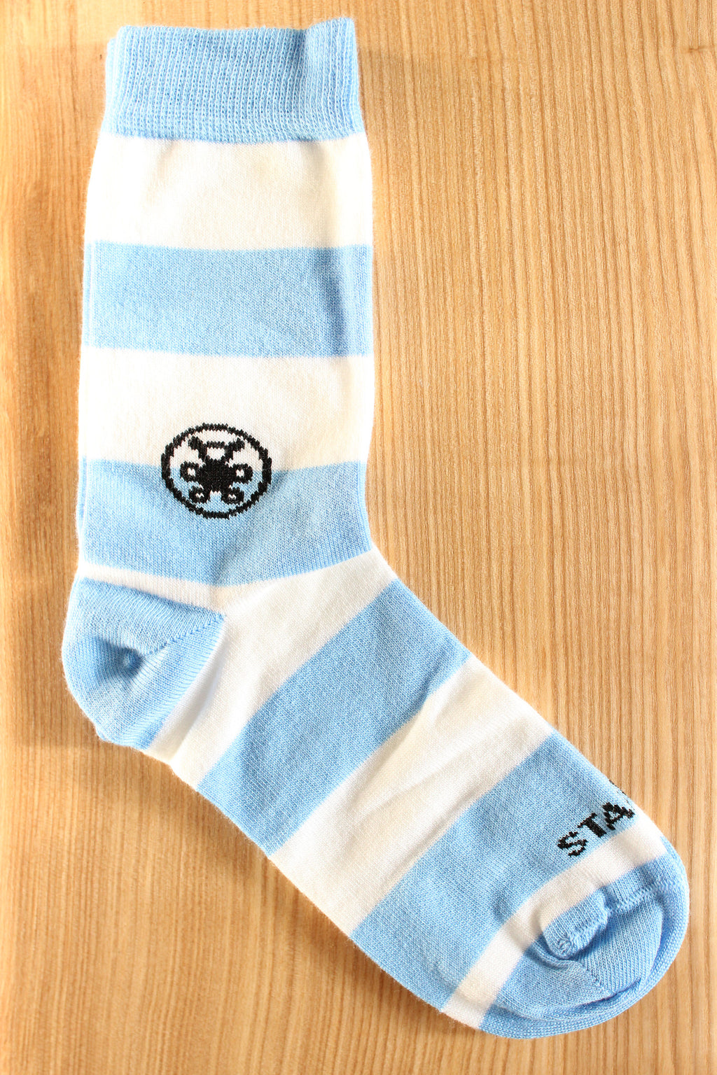 Blue & White Stripe Bamboo Sock