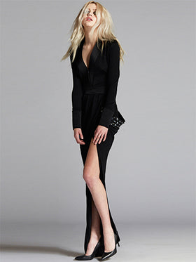 Asymmetric Cut Luxury Evening Gown - Thomas Wylde