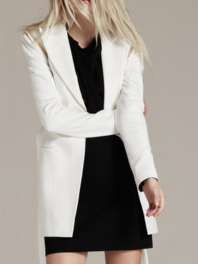 Herringbone Removable Sleeve Tailored Pant Jacket