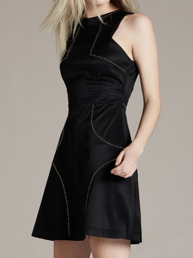 Tailored Dress With Asymmetrical Zipper - Thomas Wylde