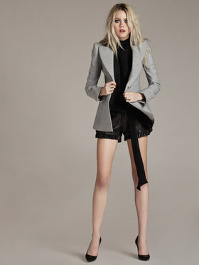 Tailored Bi-Stretch Studded Blazer