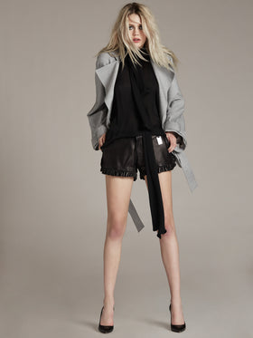 Oversized Cuff Studded Detail Jacket - Thomas Wylde