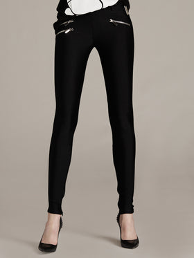 Bi-Stretch Lycra Legging With Zipper Detail
