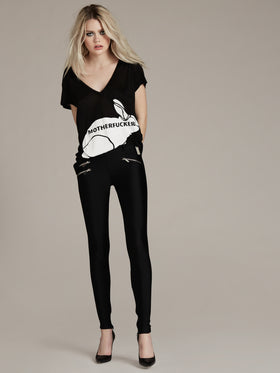 Bi-Stretch Lycra Legging With Zipper Detail - Thomas Wylde