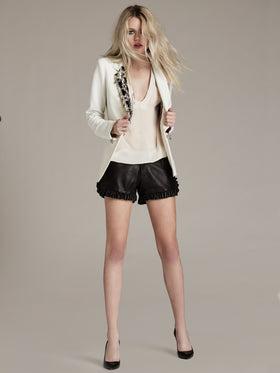 Tailored Bi-Stretch Blazer With Crystal Embellishment