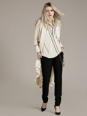 Silk Double Georgette Wrap Blouse - Thomas Wylde