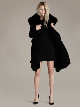 Lux Cashmere Cardigan With Detachable Fur - Thomas Wylde