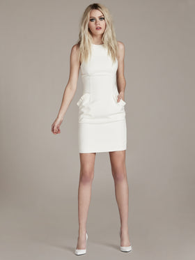 Bi-Stretch Modal Dress With Ruffle Pocket - Thomas Wylde