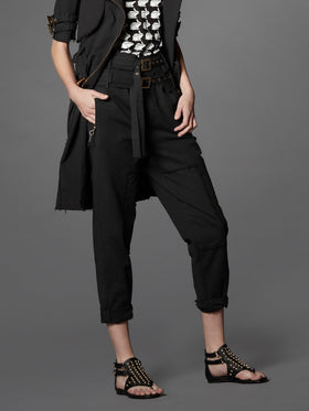 Distressed Stretch Cotton Cargo Pant - Thomas Wylde