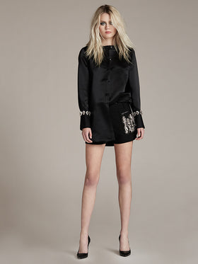 Peau De Soie Shirt With Crystal Cuff - Thomas Wylde