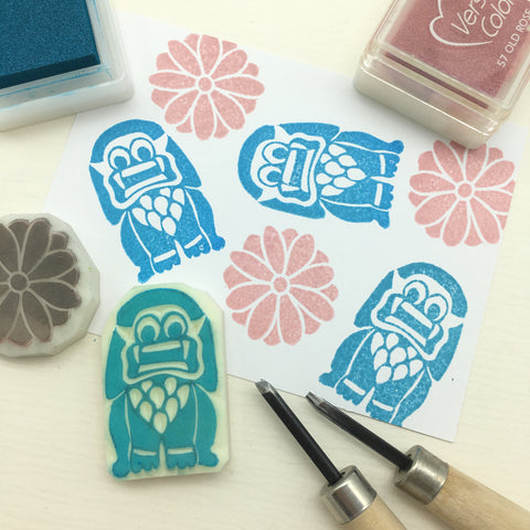 cambodia angkor rubber stamp lion