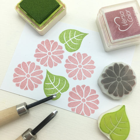 cambodia angkor rubber stamp bodhi flower