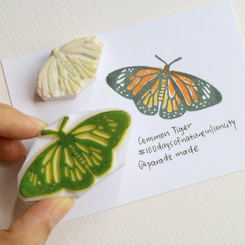 common tiger butterfly stamp parademade singapore