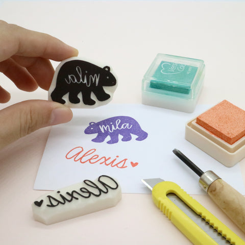handlettering personalised stamps workshop parademade
