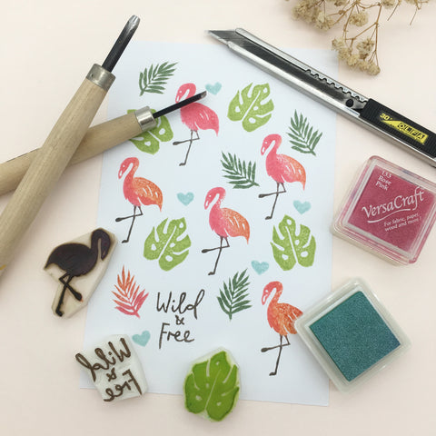 secret garden botanical stamps workshop parademade