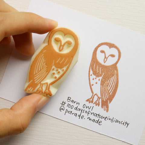 barn owl stamp parademade singapore