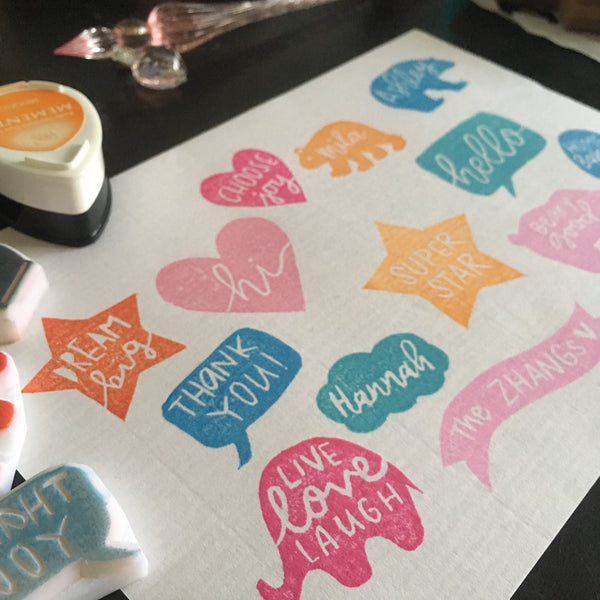 basic personalised name stamps workshop parademade
