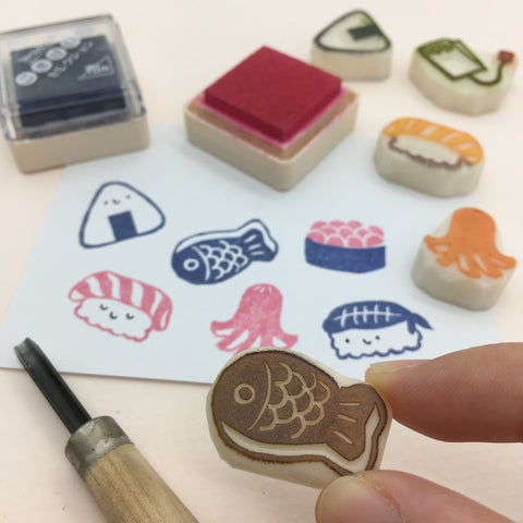 Bon Appetit rubber stamps parademade