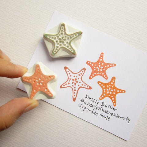 knobbly sea star stamp parademade singapore