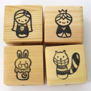 Wooden Craft Stamp - Alice in Wonderland