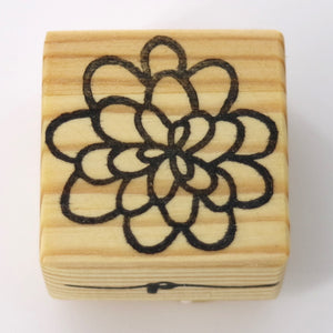 Wooden Craft Stamp - Dahlia