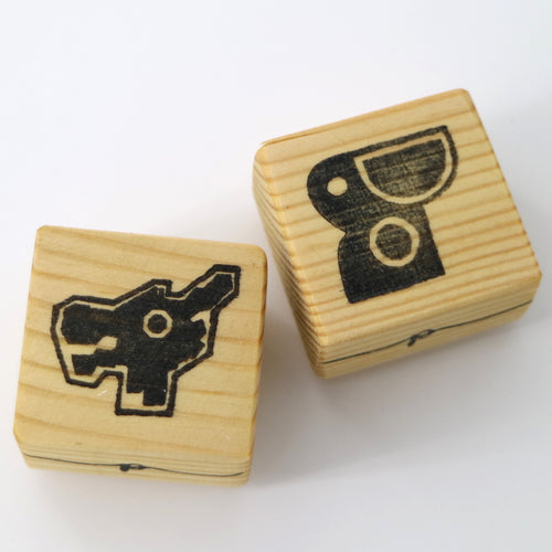 Wooden Craft Stamp - Dragon and Pelican Playground