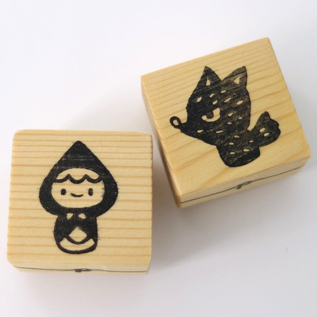 Wooden Craft Stamp - Little Red Riding Hood