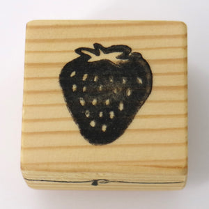 Wooden Craft Stamp - Strawberry