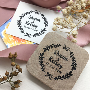 Personalised Floral Wreath Stamp