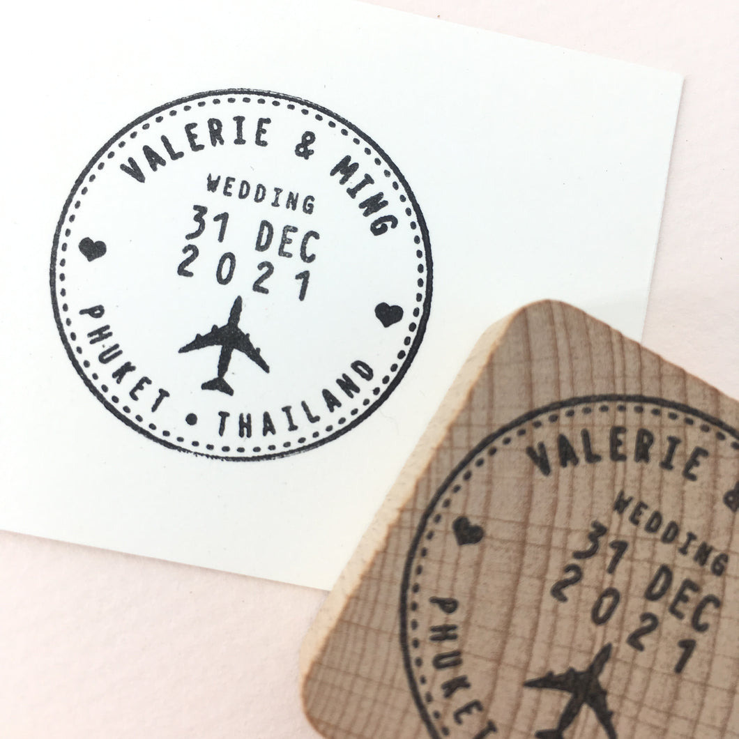 Personalised Wedding Passport Stamp