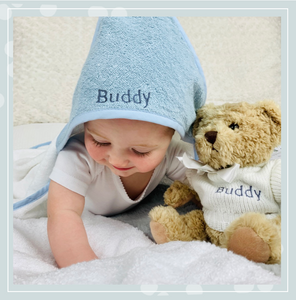 Why does a personalised hooded towel make a perfect new baby gift?