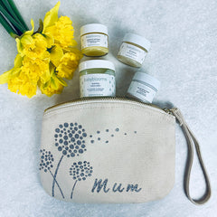 dandalion pouch pampering gift for new mum