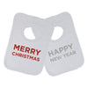 Merry Christmas and Happy New Year Sparkle Baby Bib Set