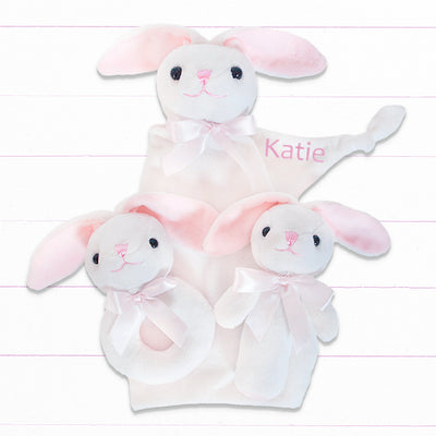 Three Little Bunnies Gift Set - Pink