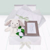 Christening Memories Keepsake Box with Little Grey Bunny