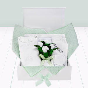 Personalised Baby Keepsake Box - White