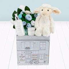 Lamb Welcome Baby Hamper, Blue