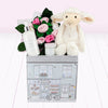 Lamb Welcome Baby Hamper, Pink