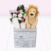 Lion Welcome Baby Hamper, Pink