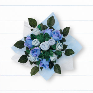Hand Tied Posy - Blue
