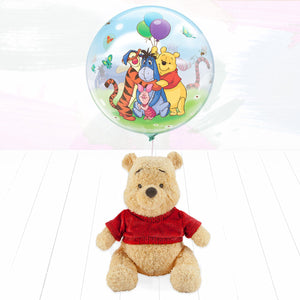 Winnie The Pooh Soft Toy and Balloon