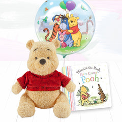 Winnie the Pooh Soft Toy, Balloon and Book Gift Set