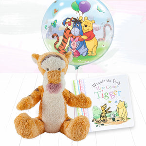 Tigger Soft Toy, Balloon and Book Gift Set