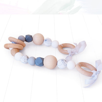 Blossom and Bear Pram Garland Grey