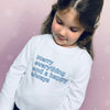 Merry Everything and a Happy Always Children's Christmas T-Shirt - Personalised