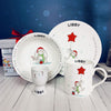 Personalised Little Bunny Christmas Breakfast Set