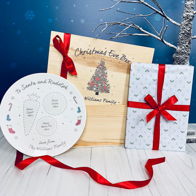Personalised Christmas Eve Box with Santa's Christmas Eve Plate and Book
