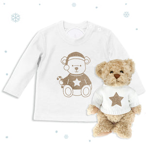 Bertie Bear's Christmas T-Shirt and Teddy Gift Set
