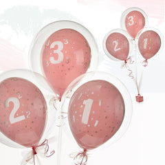 Happy Birthday Balloon - Pink